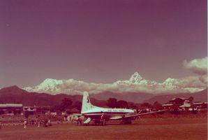l'avion à Lukla