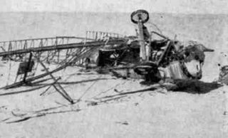 débris de l'avion de Lancaster