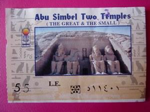 ticket d'entrée aux temples
