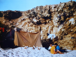 nos tentes près de l'eau