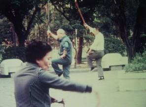 gymnastique dans les parcs