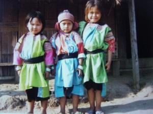 enfants dans le village Lisu