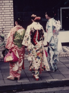 japonaises en habit traditionnel