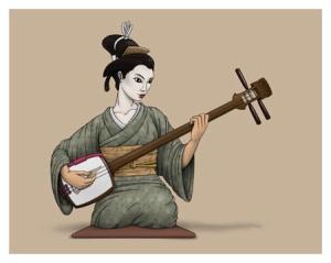 joueuse de shamisen