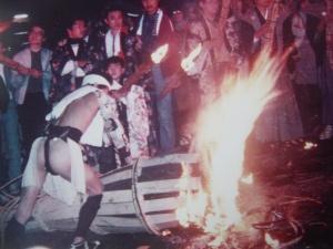 festival du feu à Kamura