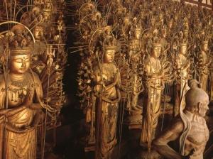 statues de Kannon dans le temple Sanjusan Gendo