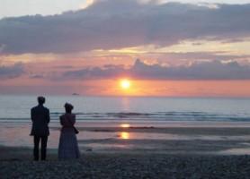 coucher soleil à la baie des trépassés