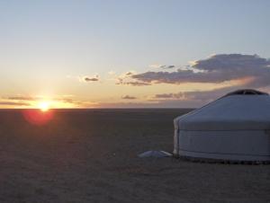 aube en Mongolie