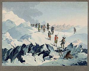 Chamonix et sa vallée (4/17) De Saussure sur le Mont Blanc dans FRANCE 300px-mont_blanc_wocher